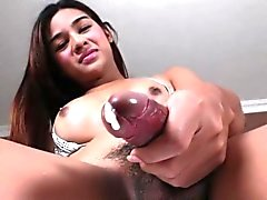 Asian Shemale Hotties Stroke Their Cocks