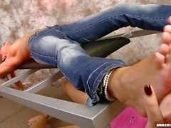 Ticklish Girl in Jeans