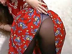 British Beauty in Pantyhose