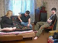 Russian Mommy With Two Boys 1