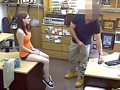 Sexy babe exchange her pussy with money at the pawnshop