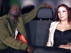 BumsBus - Kookie Ryan is opening Natalie Hot's pussy in interracial action