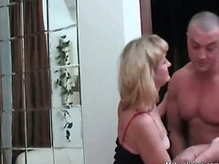 Hot and horny blonde ripe slut with great ass and some sexy