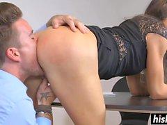 Nataly Gold rode a fat dick