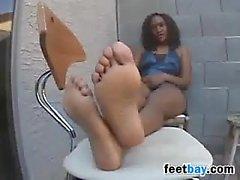 Showing Off Those Beautiful Ebony Feet