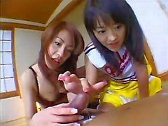 Two Asians Giving A Handjob