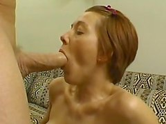 Alisha, Big Tit Blowjob, Facefuck, Swallow