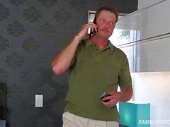Step dad feeding Alaina Dawson his cock
