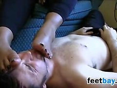 White Guy Worshipping These Ebony Feet