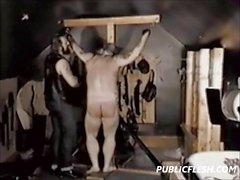 Dolgun The Bear Vektörel ile Eşcinsel Spanking
