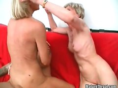 Hot mature sex with two amazing old sluts