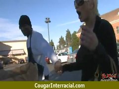 Cougar fucks a huge black monster cock 21