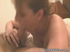 Brunette Street Whore Sucking On Dick For Rent Money
