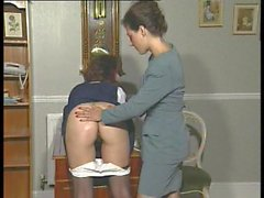 Brit lezzas spanking and playing
