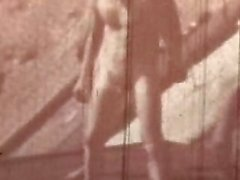 Vintage Nudist Basketball