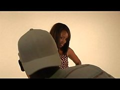 Black stud gets to fuck a hot Ebony Girl in his office-xxblacks