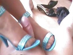 Footjobs in Nylons and Heels Compilation - German Mature fucks with her Feet