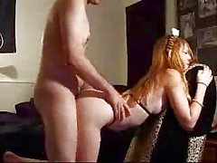 Redhead Fucked on Chair