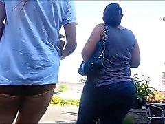 Sexy Shop Slut In Short Shorts