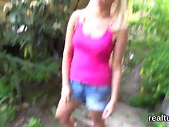 Perfect czech chick is seduced in the supermarket and penetr