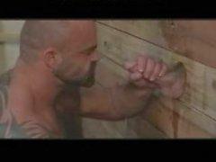 Massive Musclebear Has Fun With Gloryhole gay porn gays gay cumshots swallo
