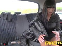 Fake Taxi Saucy hot brunette likes Czech cock