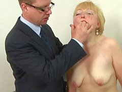 russian blonde mature spanking !!!
