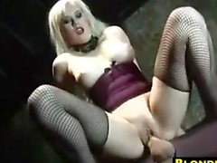 Blonde Whore Having Fun In Her Dungeon