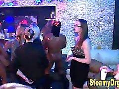Interracial fuck at teen party