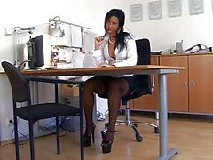 Black Nylon secretaris Sex ( TheNylonLover )