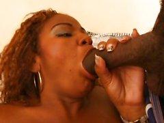 Ebony girl takes it anally