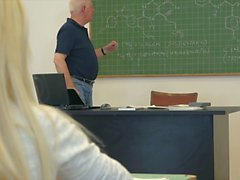 College students fuck their professor in classroom hard