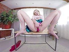 TmwVRnet - Effy Sweet - Sexy Blondie играет с дилдо