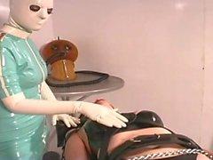 Brunette Slave Restrained Hard