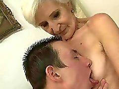 Boy fucks horny granny