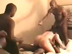 Cuckold watches partner is destroied by BBC