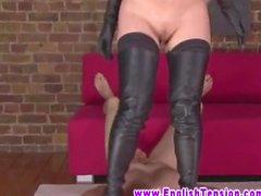 Blonde MILF FEMDOM beautie does what she wants on cock