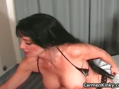 Sexy Carmen having funny with some