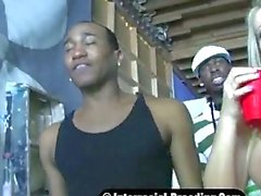 White Whore Barbie Knockedup By 2 Black Thugs