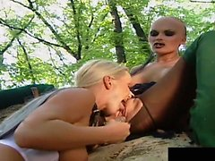 Gina,silvia and simony get lesbian sex and double...