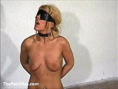 Slave Crystel Lei pussy punishment in gyno bdsm