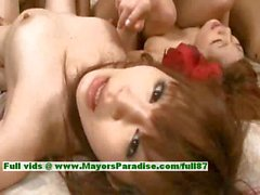 Von Rena Kuraki und Teenager- chinesischen Modell Freunden zu haben einen heißen Orgy verrückter