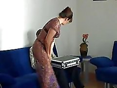 Horny mom kissing with cute guy passionately