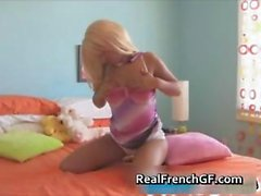 Amazing blond masturbating her fine part1
