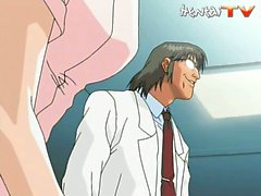 Sexy hentai nurse gets fucked by her doctor on his sex table
