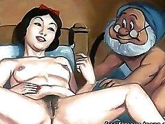 Biancaneve e impallidire orgia Anime