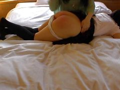 Spanked OTK on the Bed