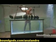 A Slave in a Paket Tortured Underwater