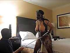 Indian slave wife wild orgasms, clamps, and tit slapping