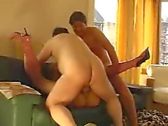 Belgian Playmate fucked by three old men